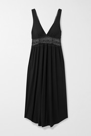Eberjey Antoinette Uptown lace-paneled stretch-modal nightdress