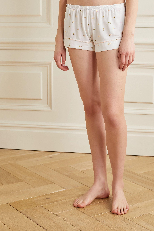 Eberjey Giving printed stretch-modal jersey pajama set