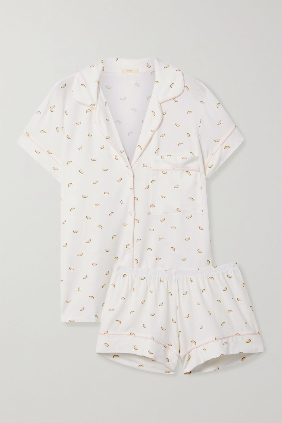 Eberjey Giving printed stretch-modal jersey pajama set
