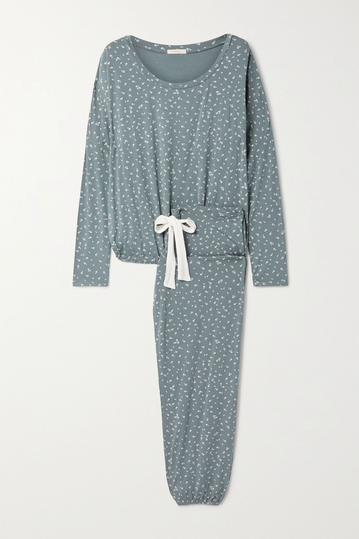 Eberjey Bloom floral-print stretch-modal jersey pajama set