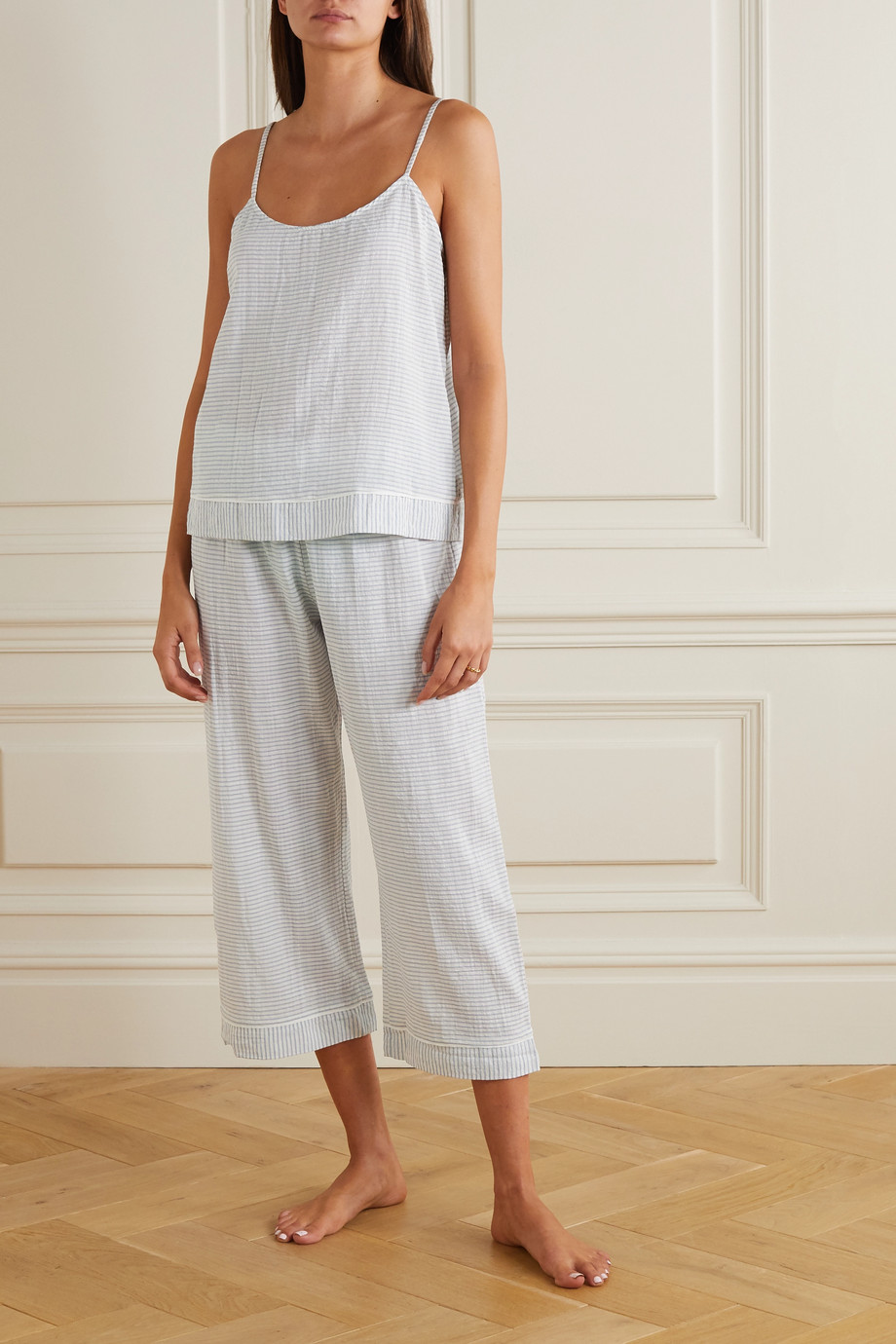 Eberjey Nautico striped cotton-blend camisole