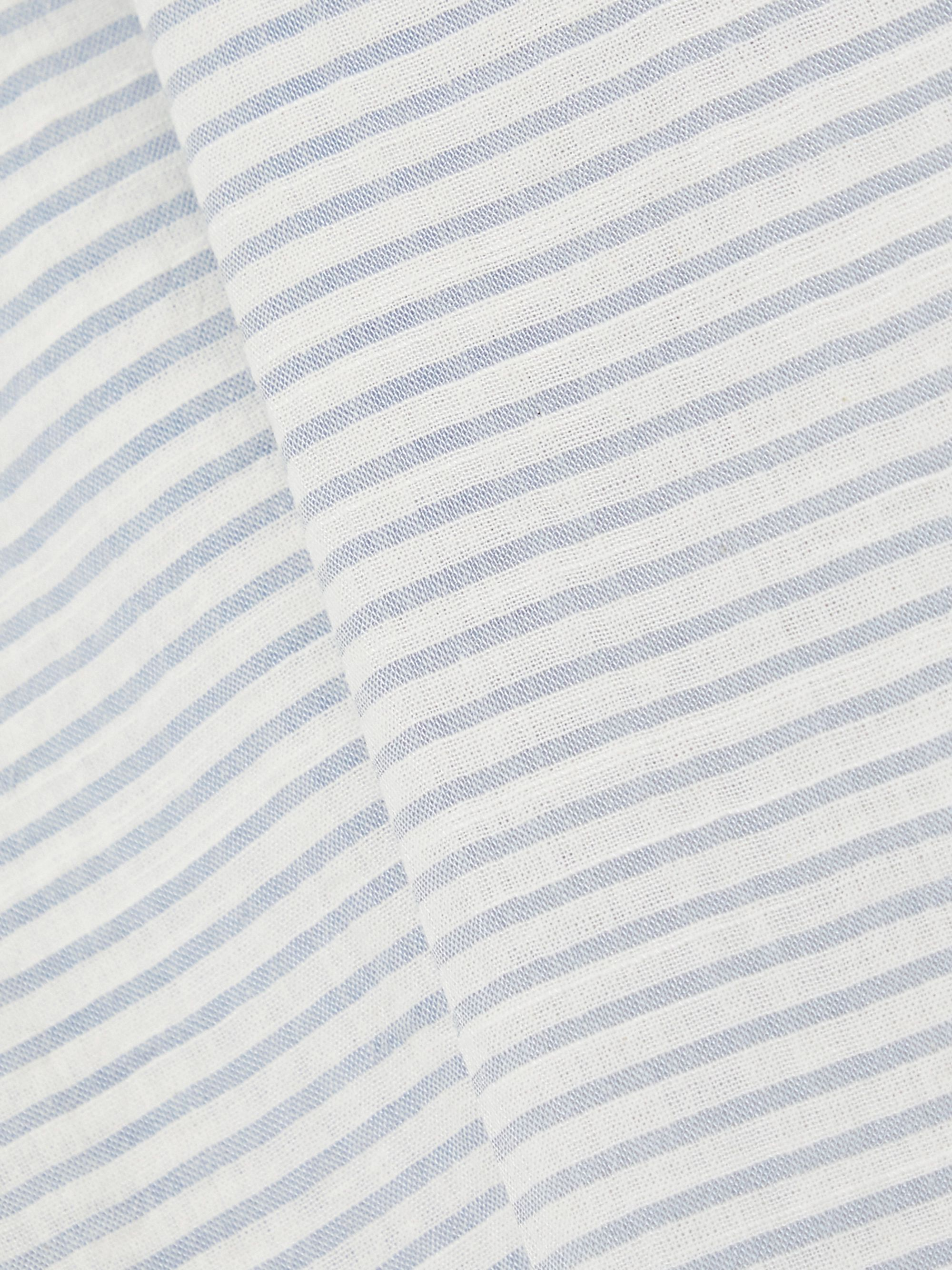 Eberjey Nautico cropped striped cotton-blend pajama pants