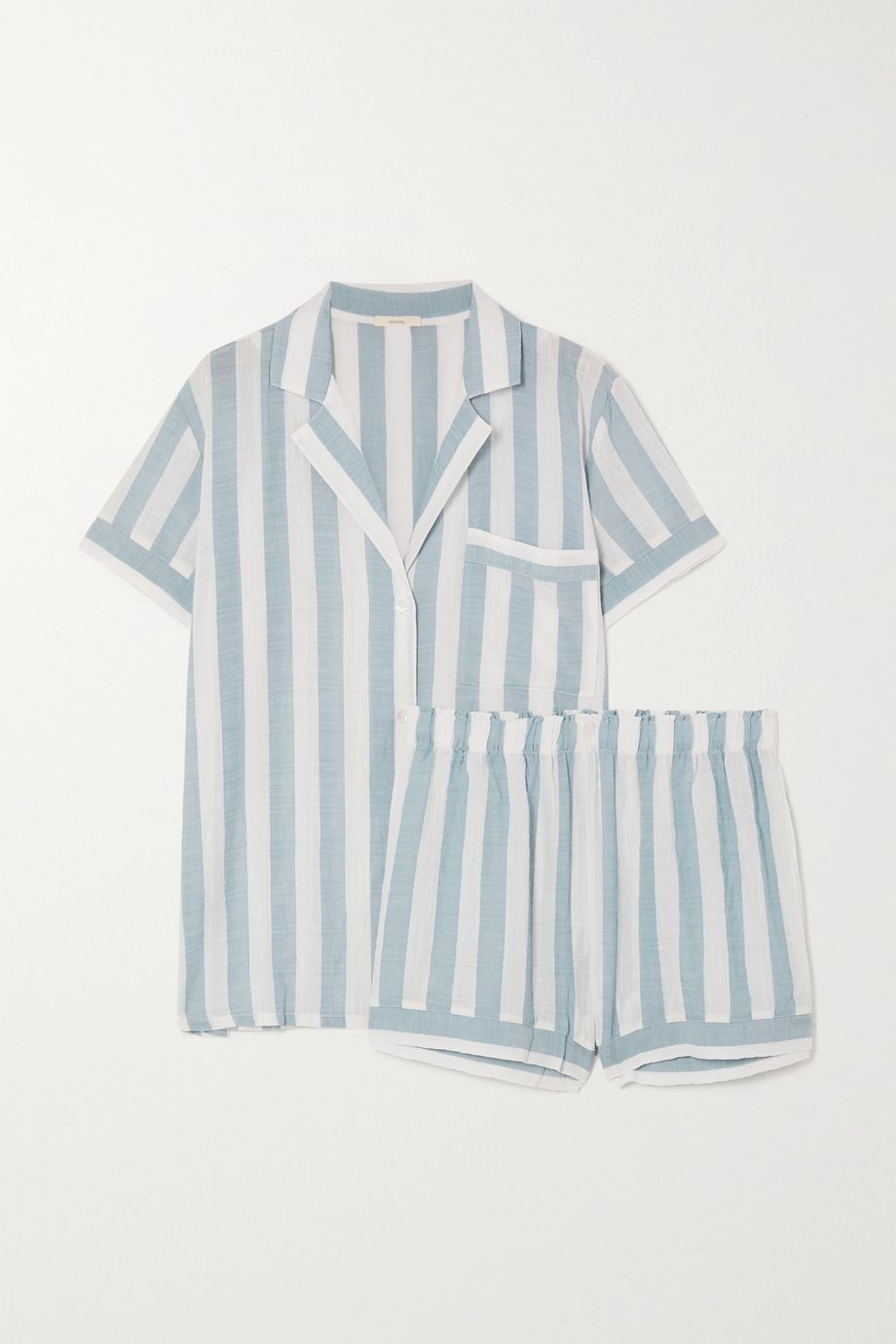 Eberjey Umbrella Stripes cotton-blend voile pajama set