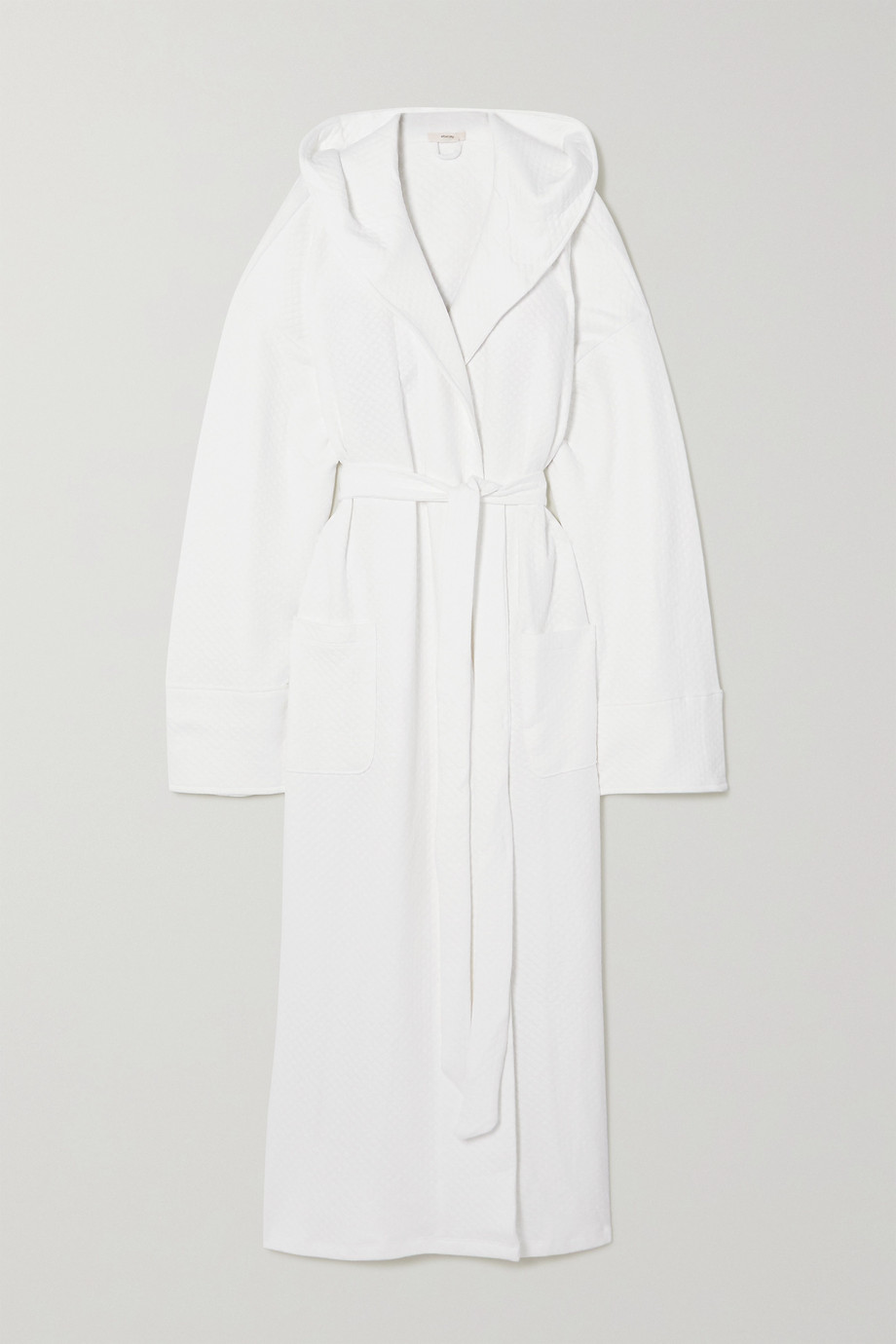 Eberjey Zen hooded belted quilted cotton robe