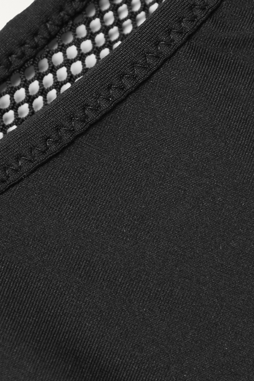 Stella McCartney One-shoulder mesh-paneled bikini top