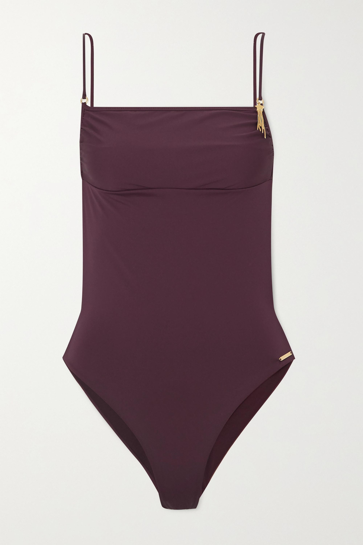 Stella McCartney Embellished open-back swimsuit