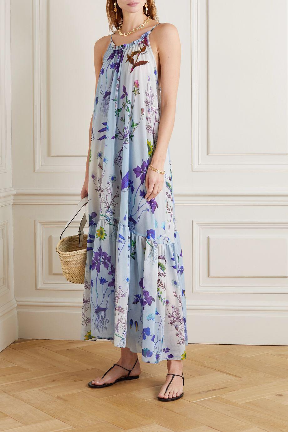 Stella McCartney Trippy floral-print silk and cotton-blend dress
