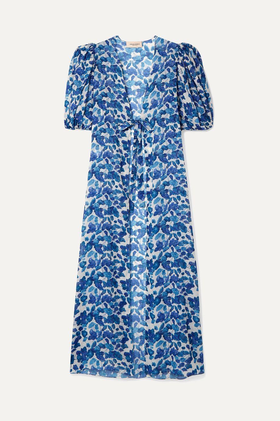 Adriana Degreas Floral-print chiffon robe