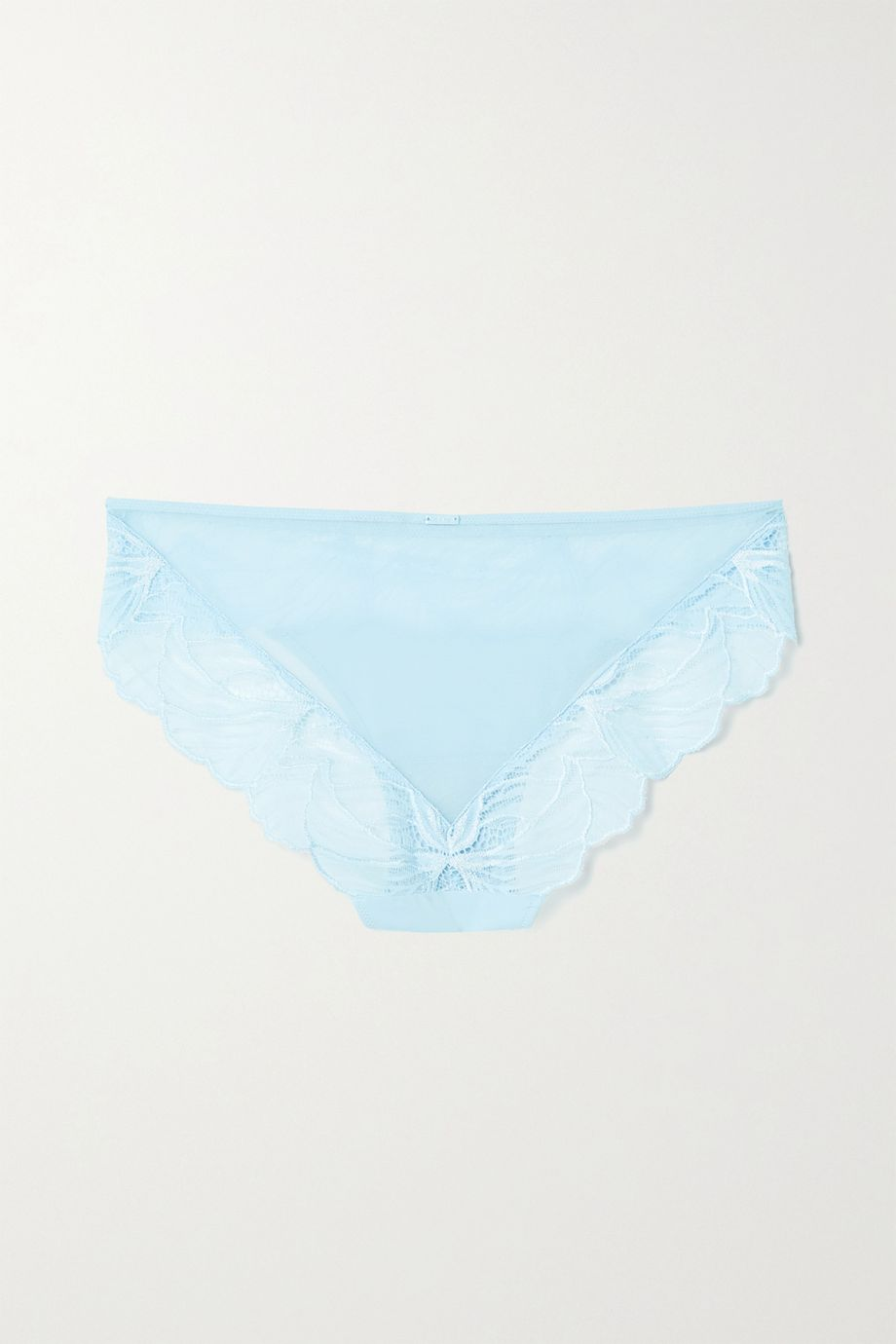 Calvin Klein Underwear Lace-trimmed stretch-jersey and tulle briefs