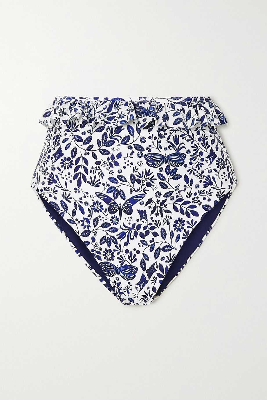 Agua by Agua Bendita Alicia ruffled printed bikini briefs
