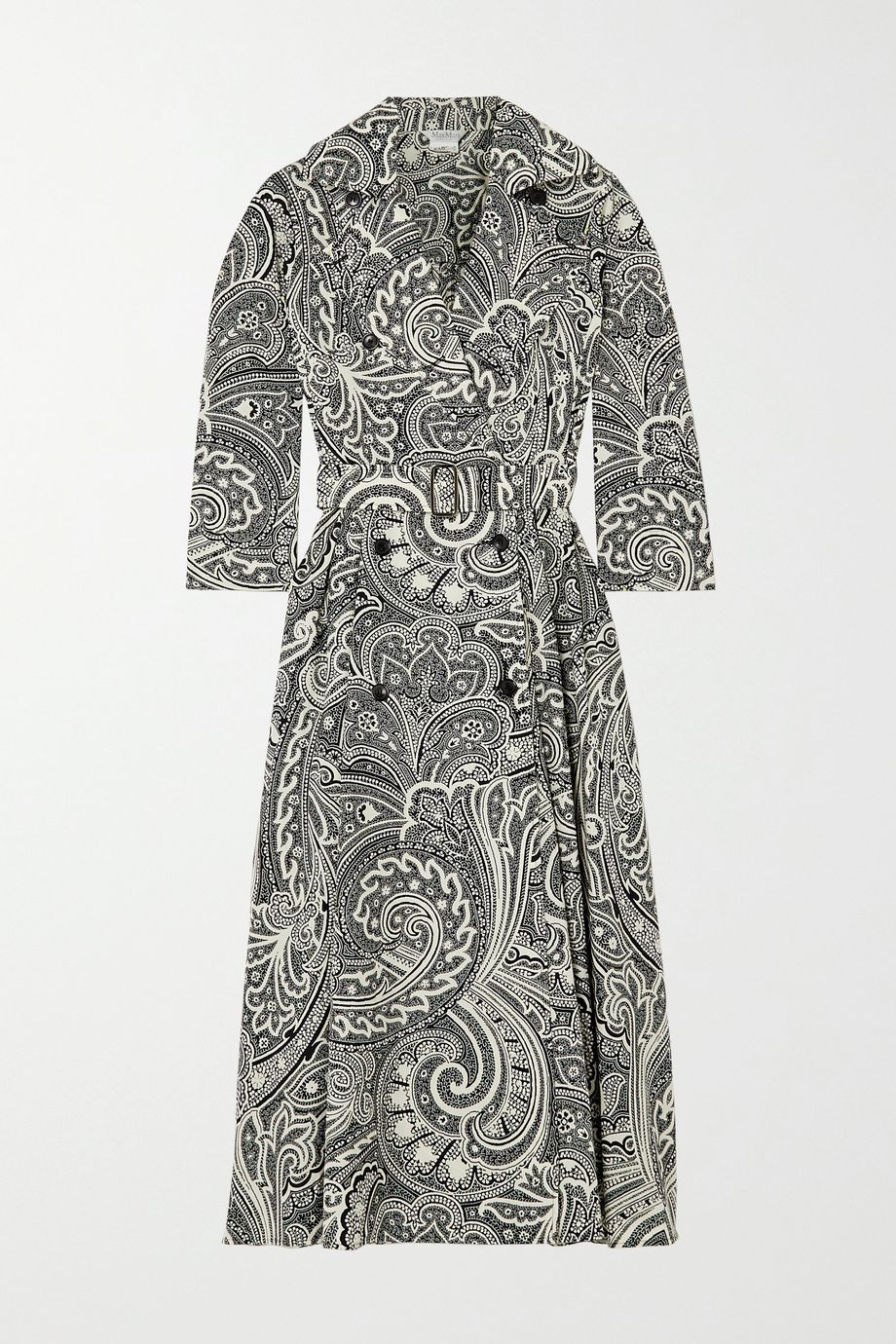 Max Mara Addobbo belted double-breasted paisley-print cotton dress