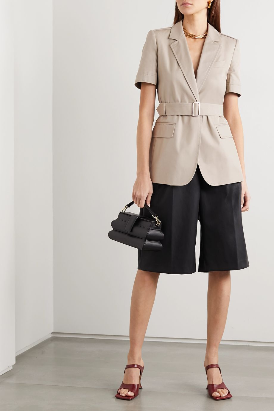 Max Mara Cesare belted cotton-twill jacket