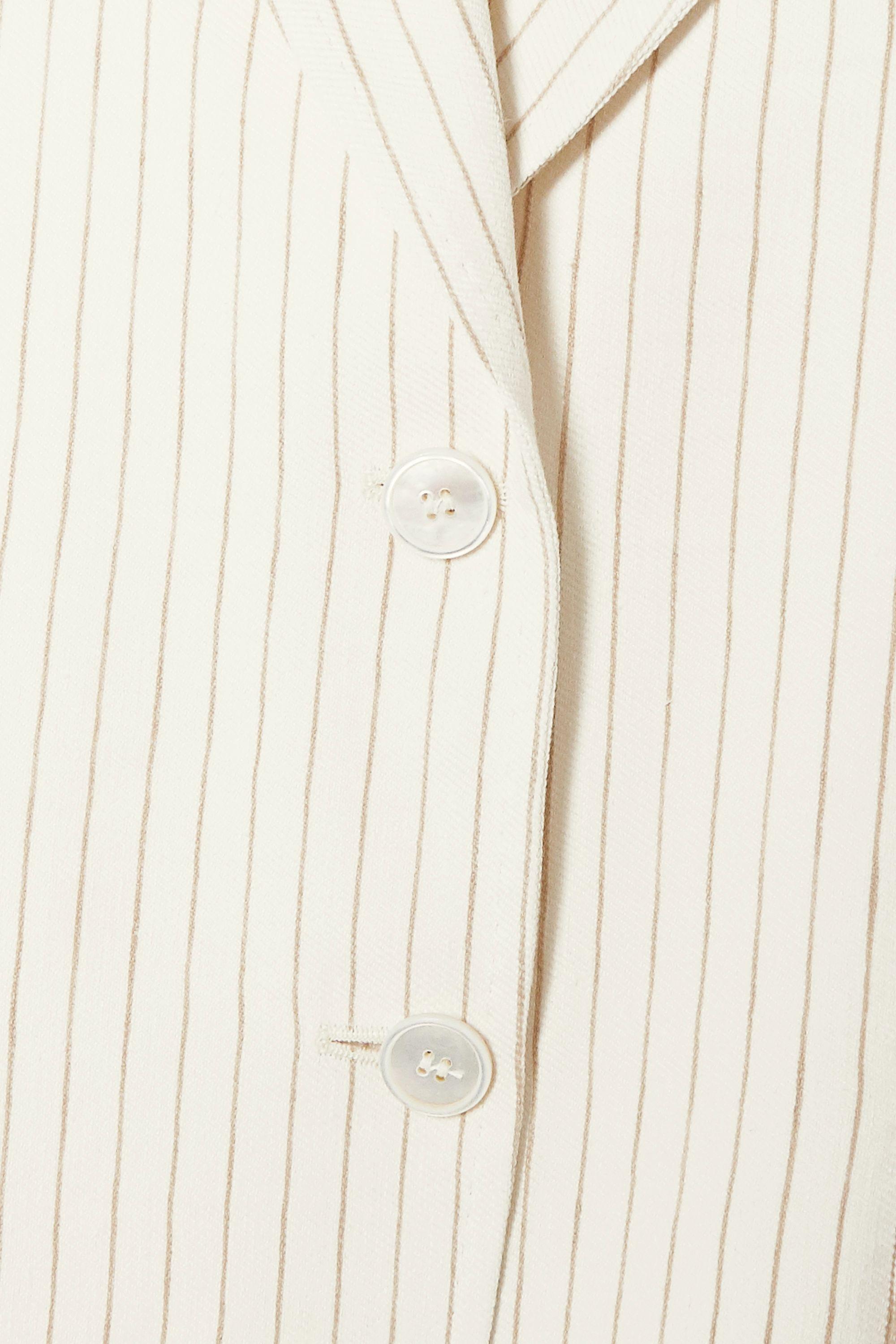 Max Mara Timor pinstriped linen and silk-blend blazer