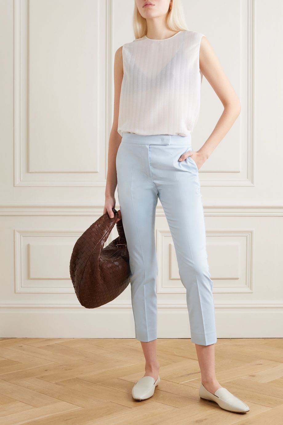 Max Mara Luana cotton-blend straight-leg pants