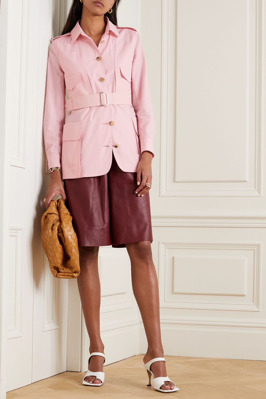 Max Mara Orfeo belted cotton shirt