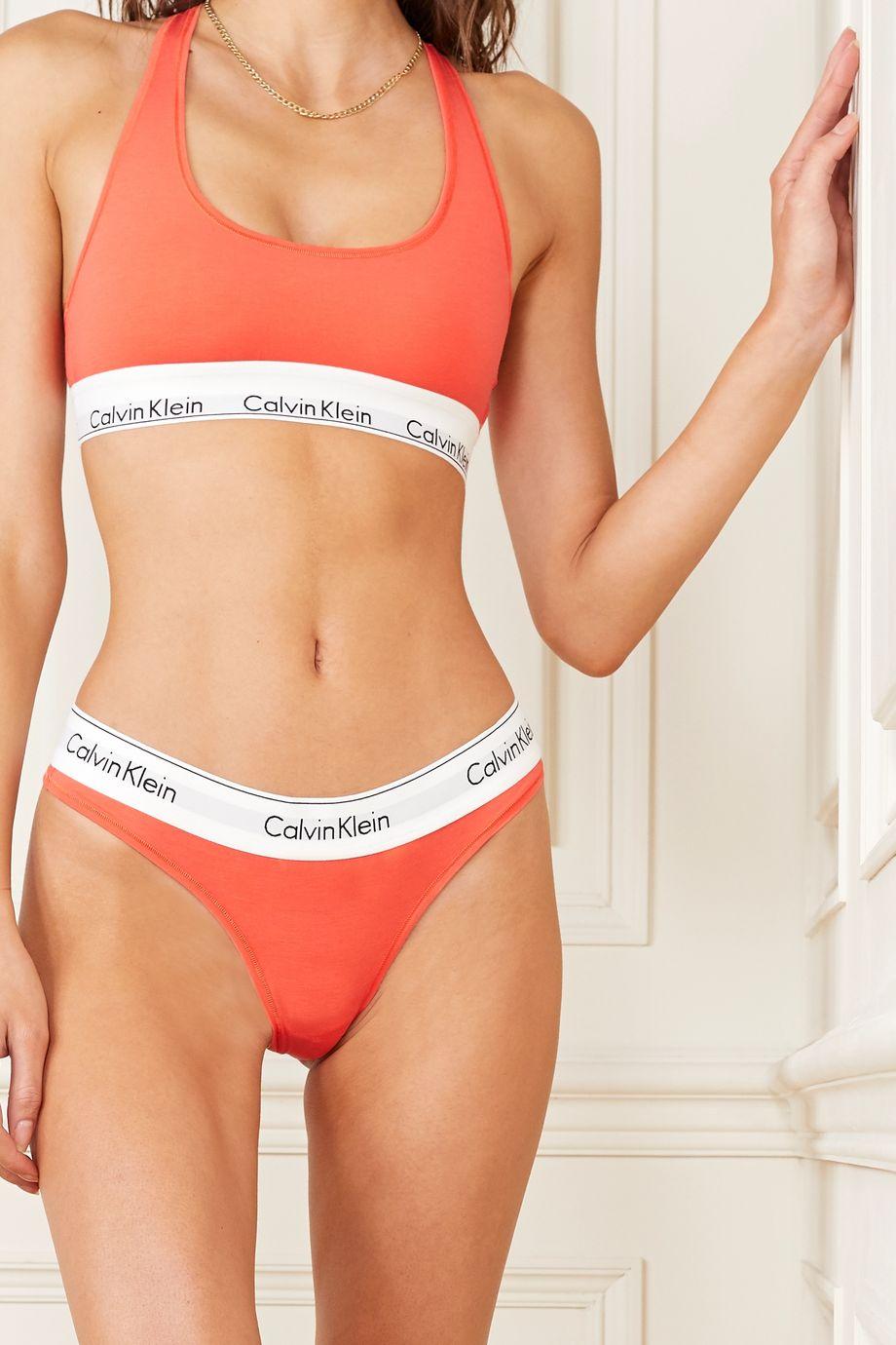 Calvin Klein Underwear Modern Cotton 弹力棉质莫代尔混纺软杯文胸