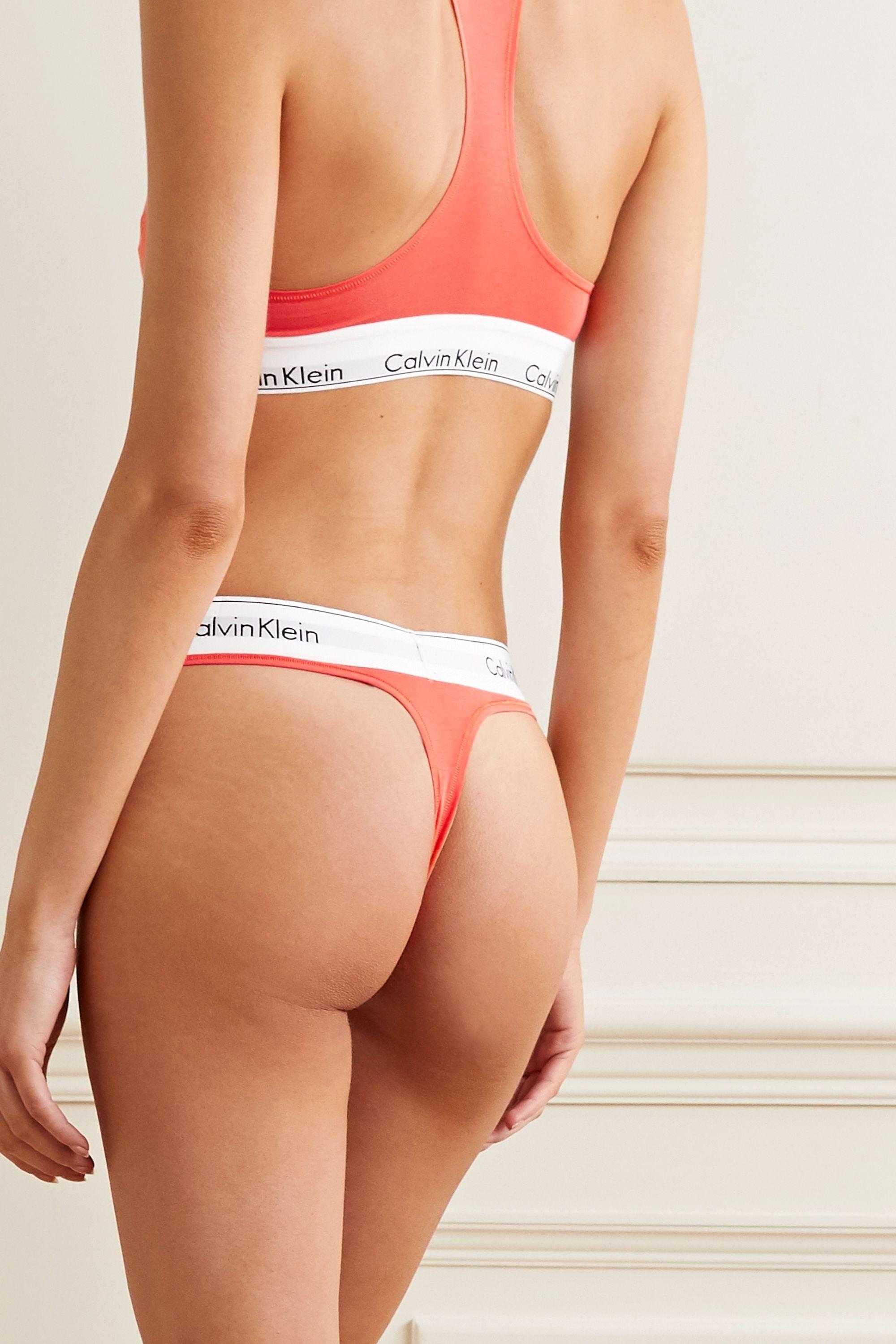 Calvin Klein Underwear Modern Cotton stretch cotton and modal-blend thong