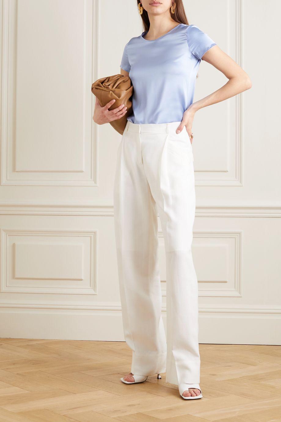 Max Mara Leisure Cortona silk-blend satin T-shirt