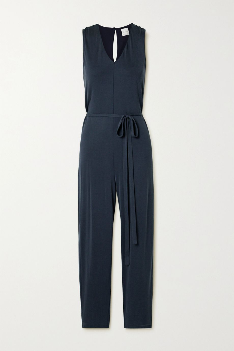 Max Mara Leisure Comune wrap-effect stretch-cupro jumpsuit