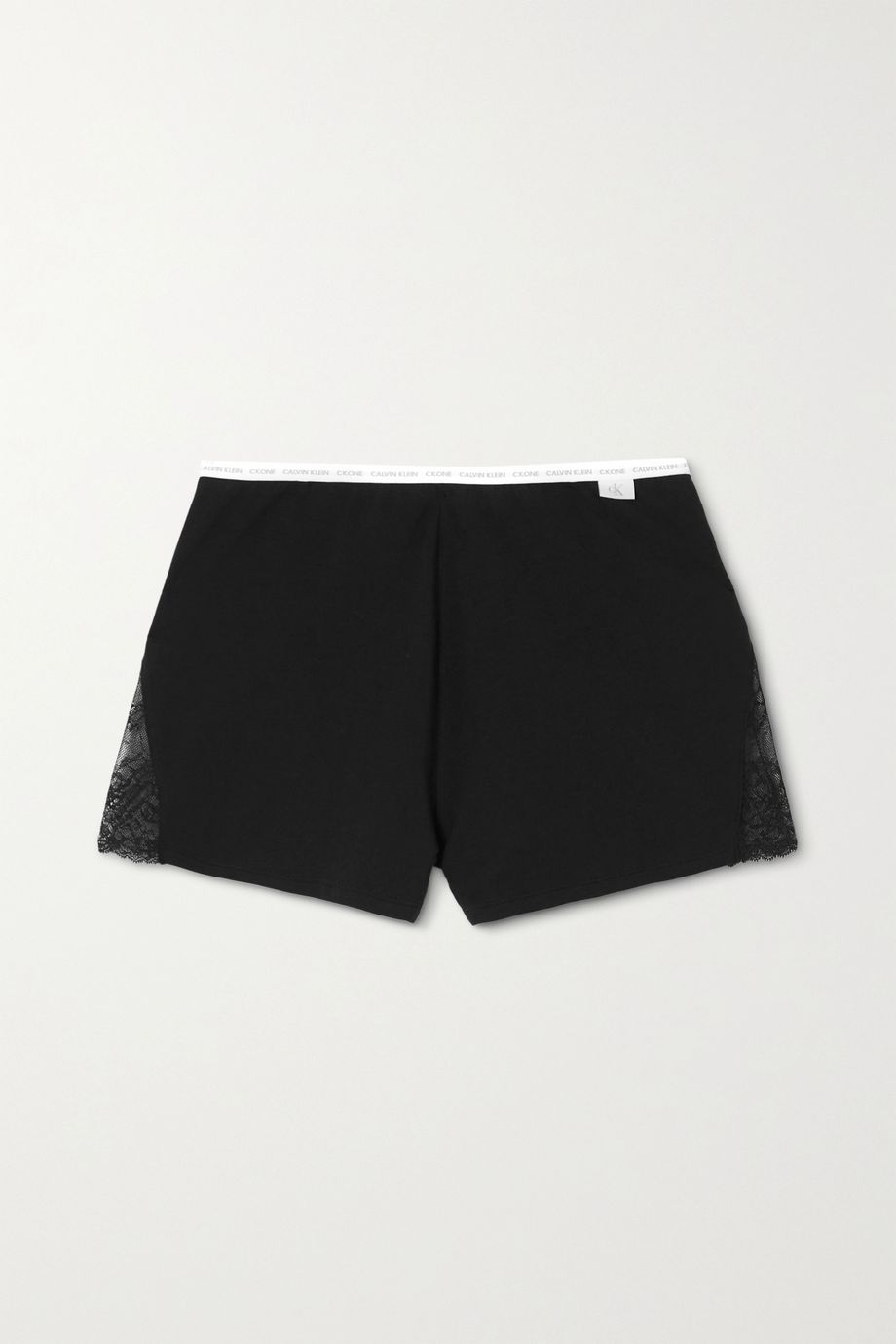 Calvin Klein Underwear Lace-trimmed stretch cotton and modal-blend jersey shorts