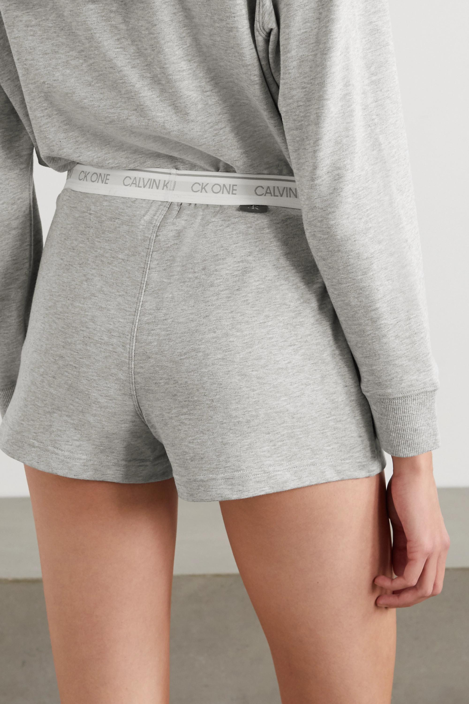 Calvin Klein Underwear 印花混色棉质混纺平纹布短裤