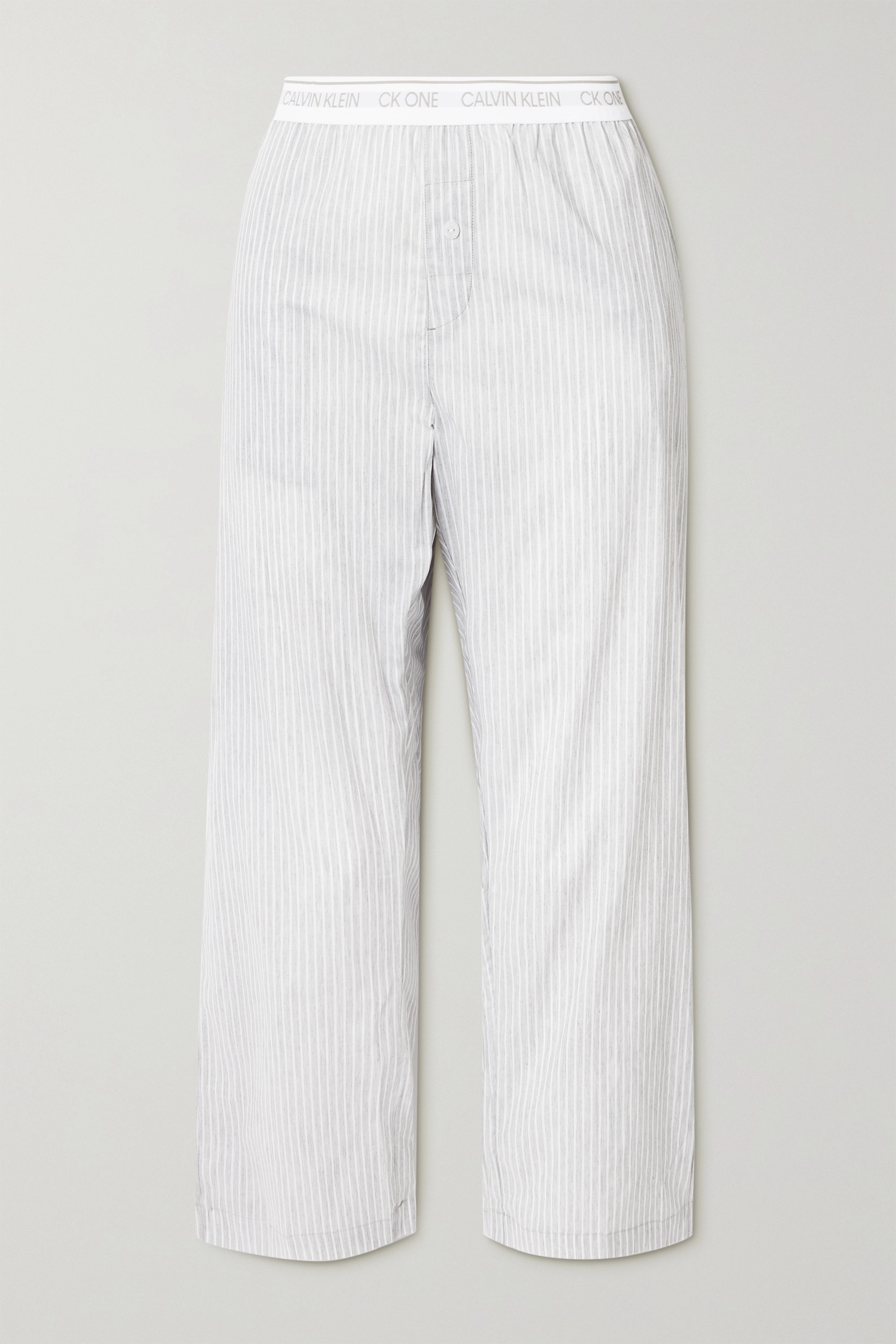 Calvin Klein Underwear Striped cotton-voile pajama pants