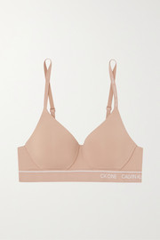 Calvin Klein Underwear CK One stretch-jersey soft-cup bra