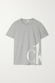 Calvin Klein Underwear Printed mélange stretch-cotton jersey T-shirt