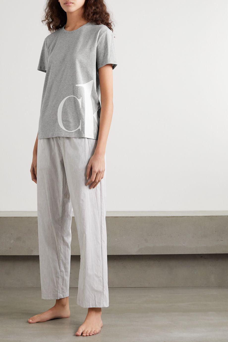 Calvin Klein Underwear Printed mélange stretch-cotton jersey T-shirt