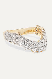 Simplicity 18-karat gold diamond ring
