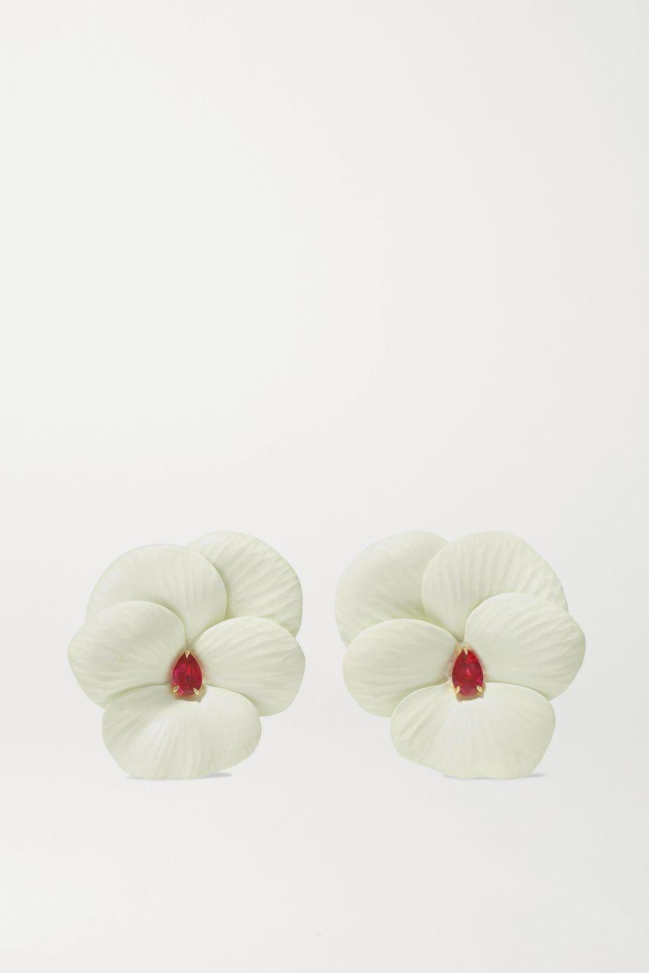 G by Glenn Spiro Luma HyCeram Luminex, 18-karat rose gold and ruby earrings