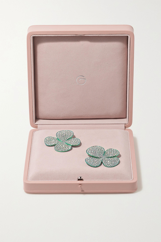 G by Glenn Spiro Clover Leaf titanium diamond earrings