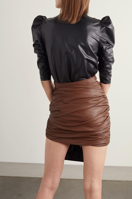 Zeynep Arcay Mini-jupe froncée en cuir
