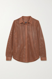 Zeynep Arcay Perforated leather shirt