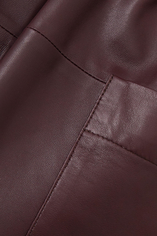 Zeynep Arçay Belted leather midi dress