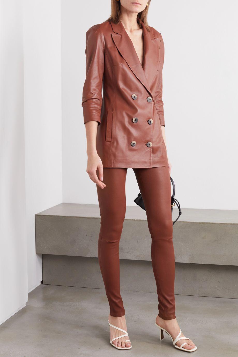 Zeynep Arcay Stretch-leather skinny pants
