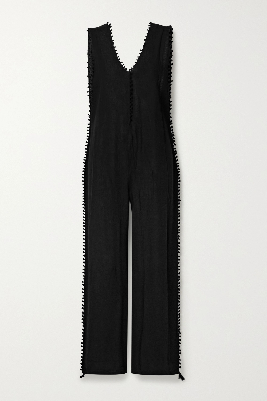 Caravana Oxku fringed cotton-gauze jumpsuit