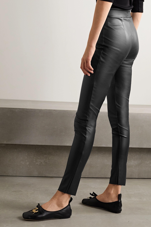 Wolford Estella faux stretch-leather leggings