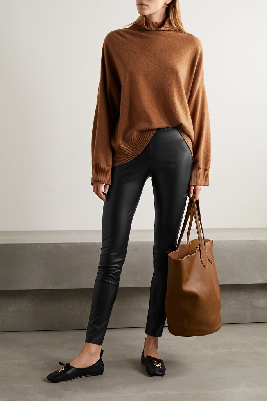 Wolford Estella faux stretch-leather leggings