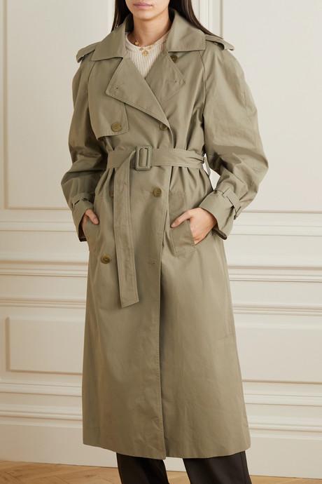 Organic cotton-organza trench coat
