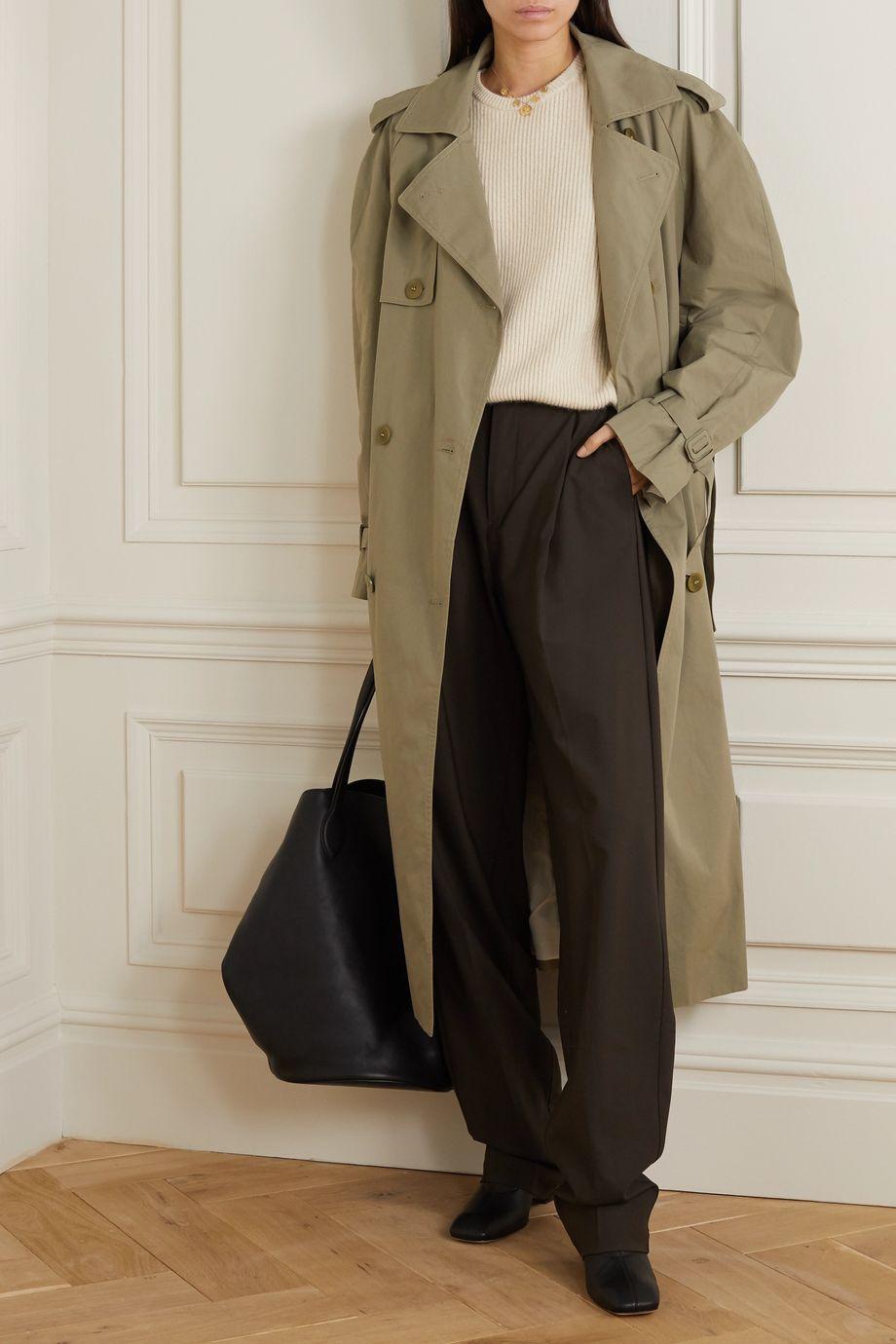 BITE Studios Organic cotton-organza trench coat