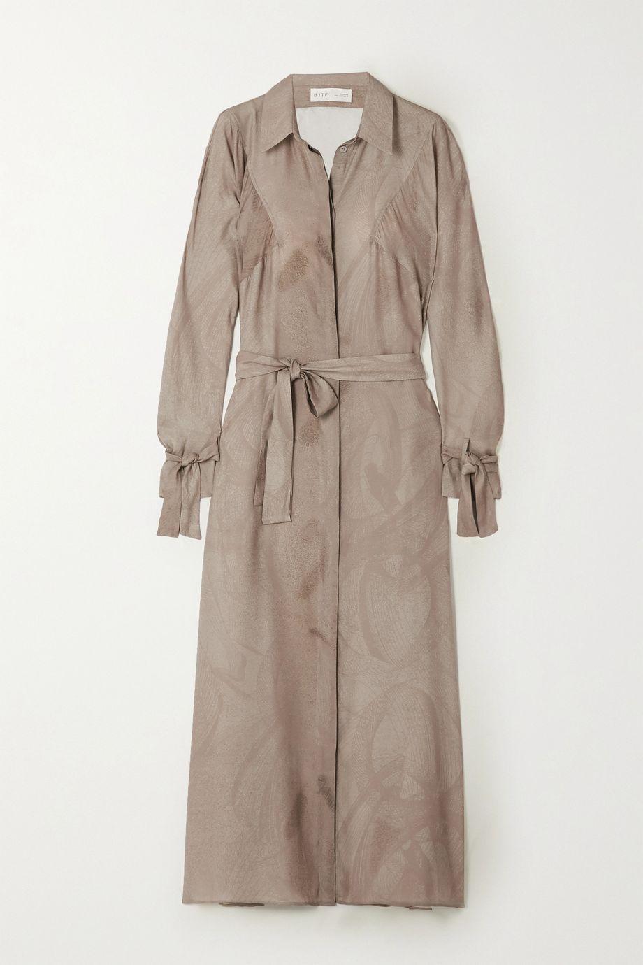 BITE Studios + NET SUSTAIN printed organic silk midi dress