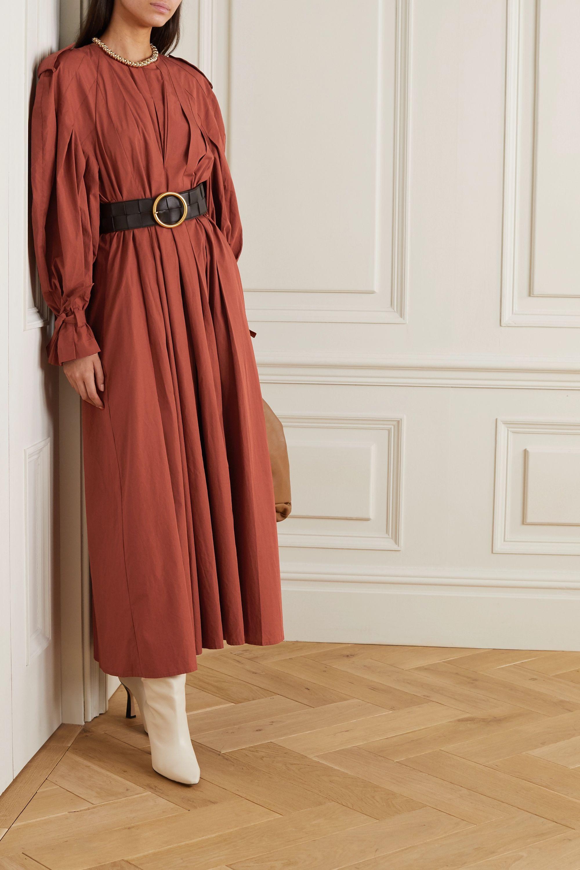 BITE Studios + NET SUSTAIN belted pleated organic cotton maxi dress