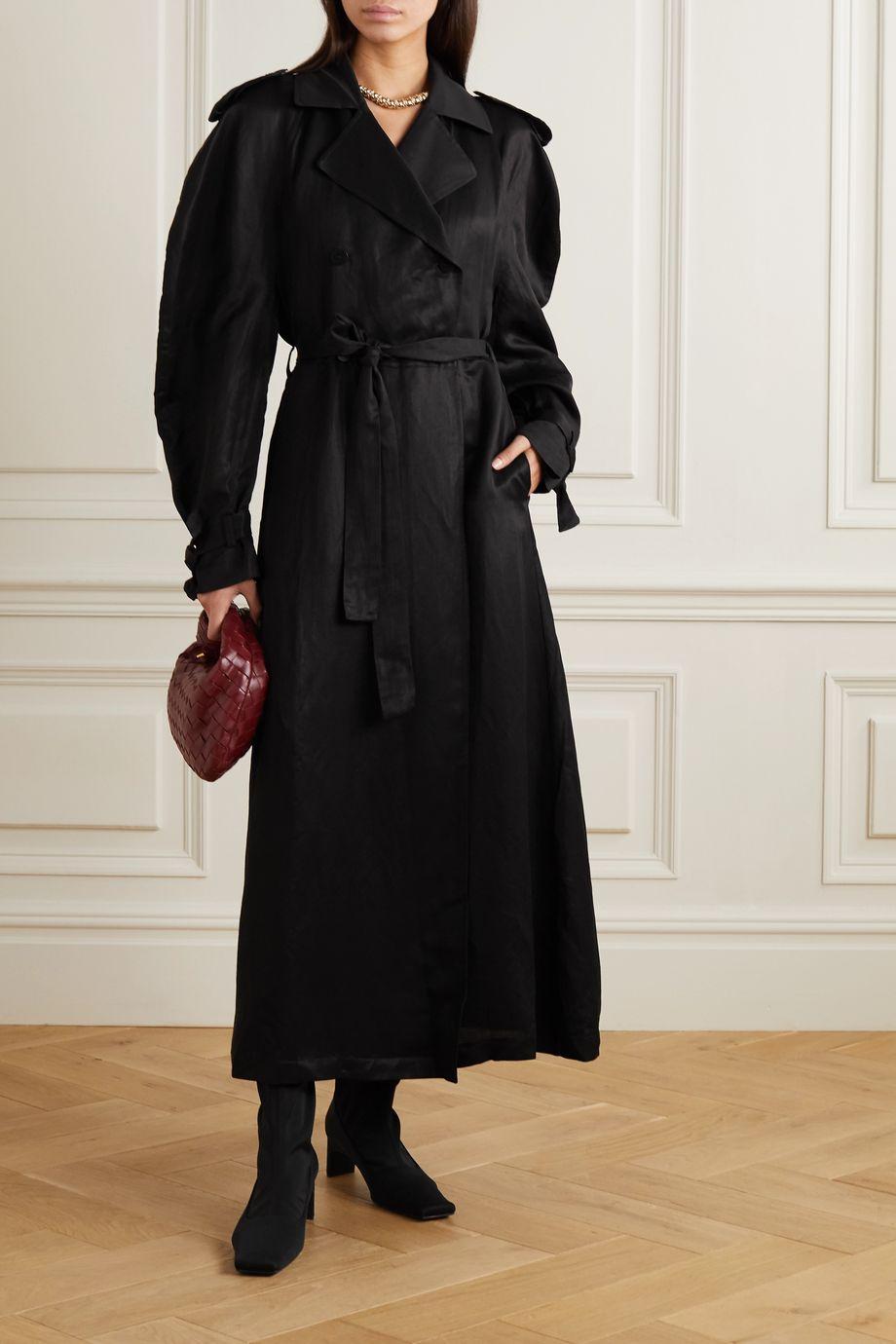 BITE Studios + NET SUSTAIN belted linen-blend maxi dress