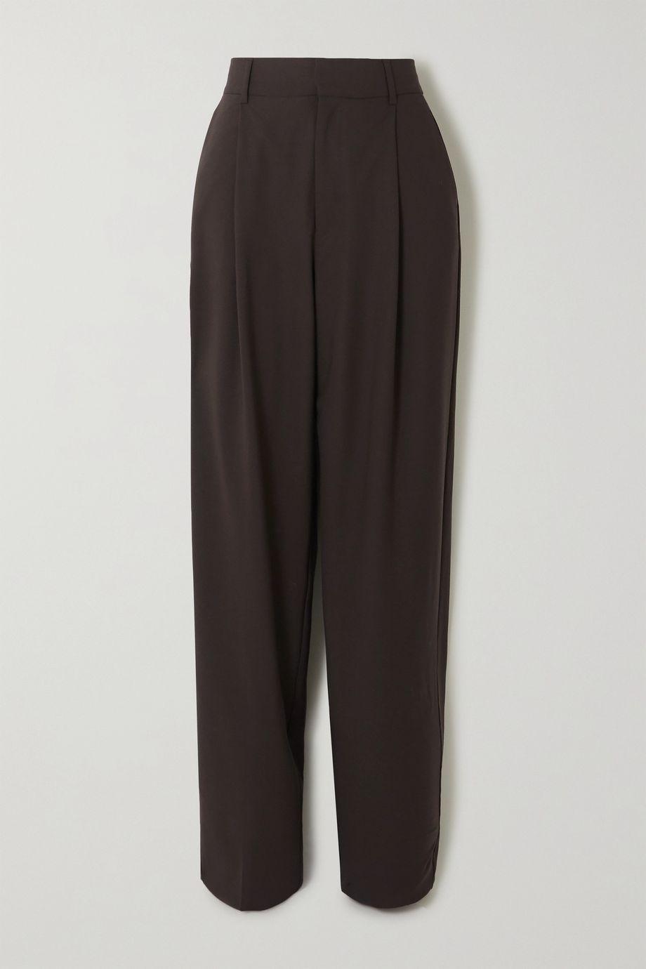 BITE Studios + NET SUSTAIN pleated organic wool-blend tapered pants