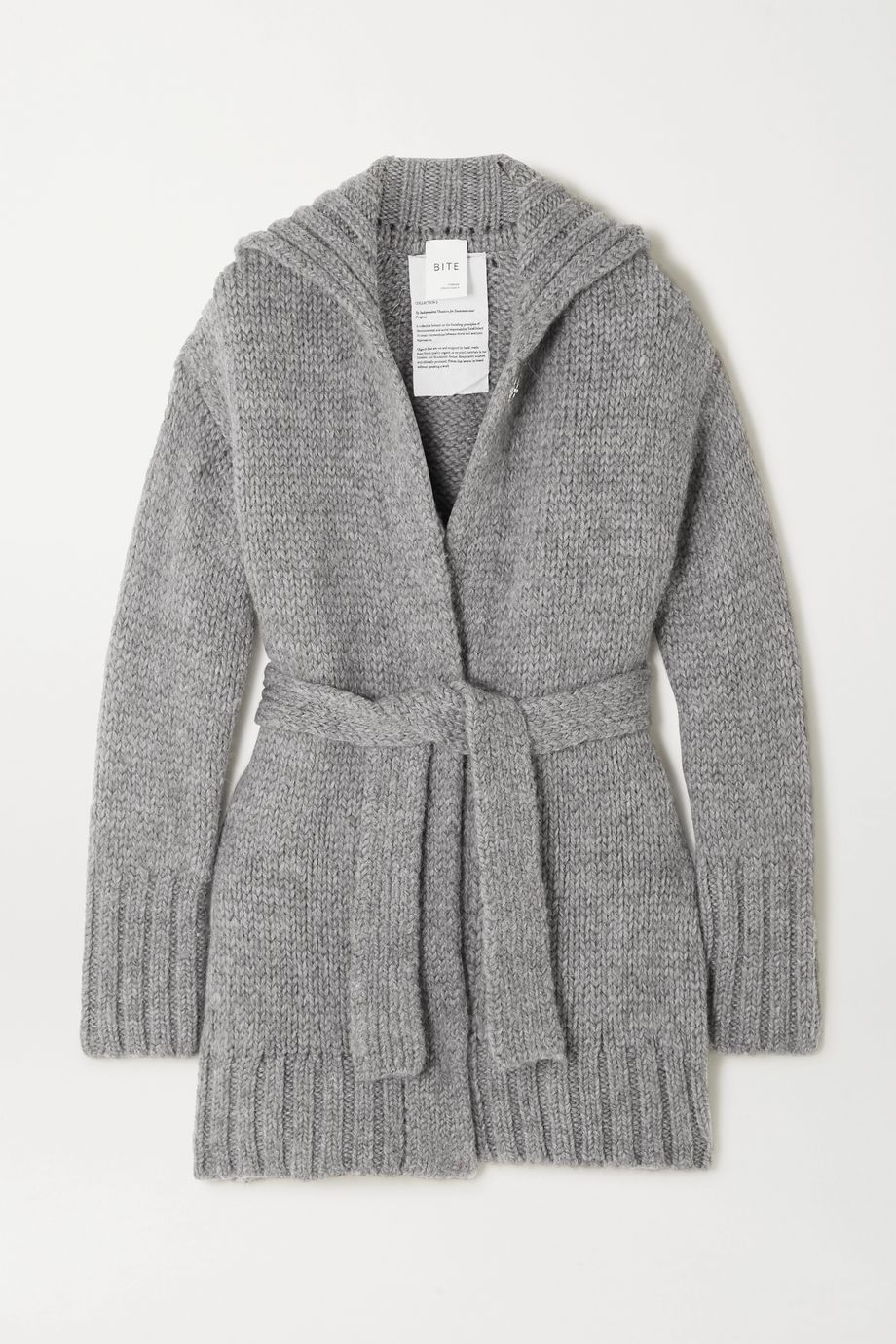 BITE Studios + NET SUSTAIN belted organic wool and alpaca-blend cardigan