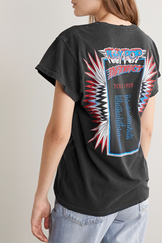 MadeWorn Iggy Pop T-Shirt aus bedrucktem Baumwoll-Jersey in Distressed-Optik