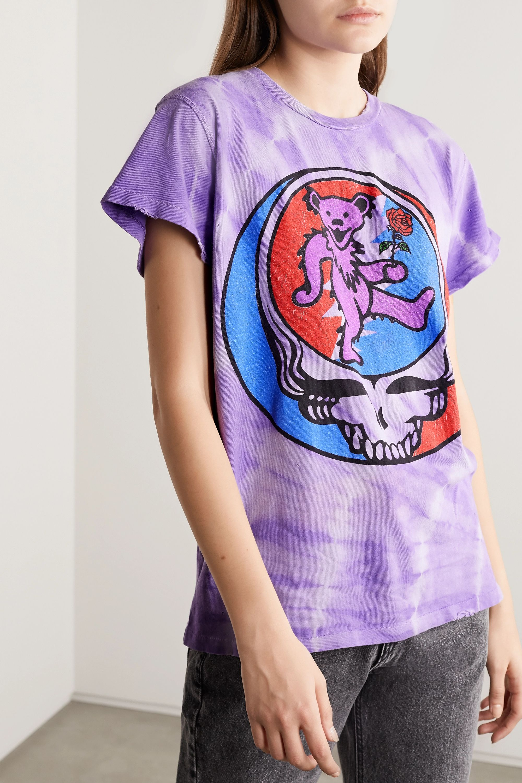 MadeWorn Grateful Dead bedrucktes T-Shirt aus Baumwoll-Jersey in Distressed-Optik