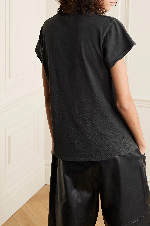 MadeWorn Biggie distressed printed cotton-jersey T-shirt