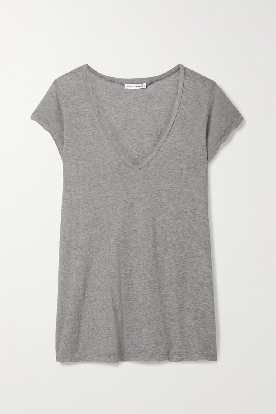 James Perse Mélange cotton-jersey T-shirt
